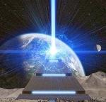 pyramide, erde, licht