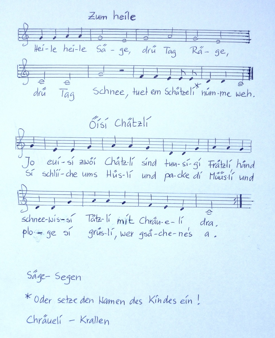 Kinderlied Schweiz 1