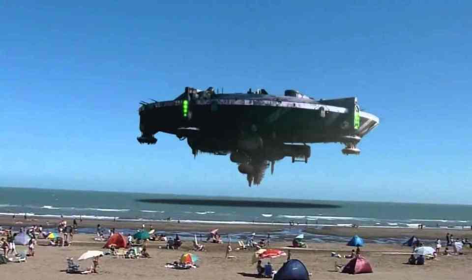 ufo on beach